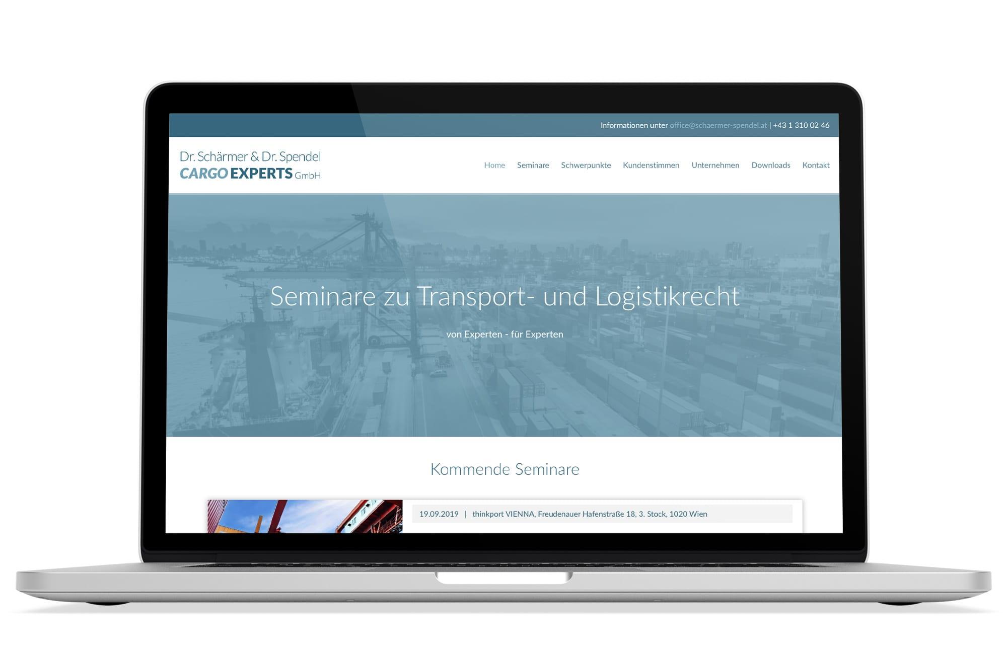 Webdesign Beispiel: Logodesign, Responsive Webdesign, WordPress für Rechtsanwalt Wien und Seminarveranstalter