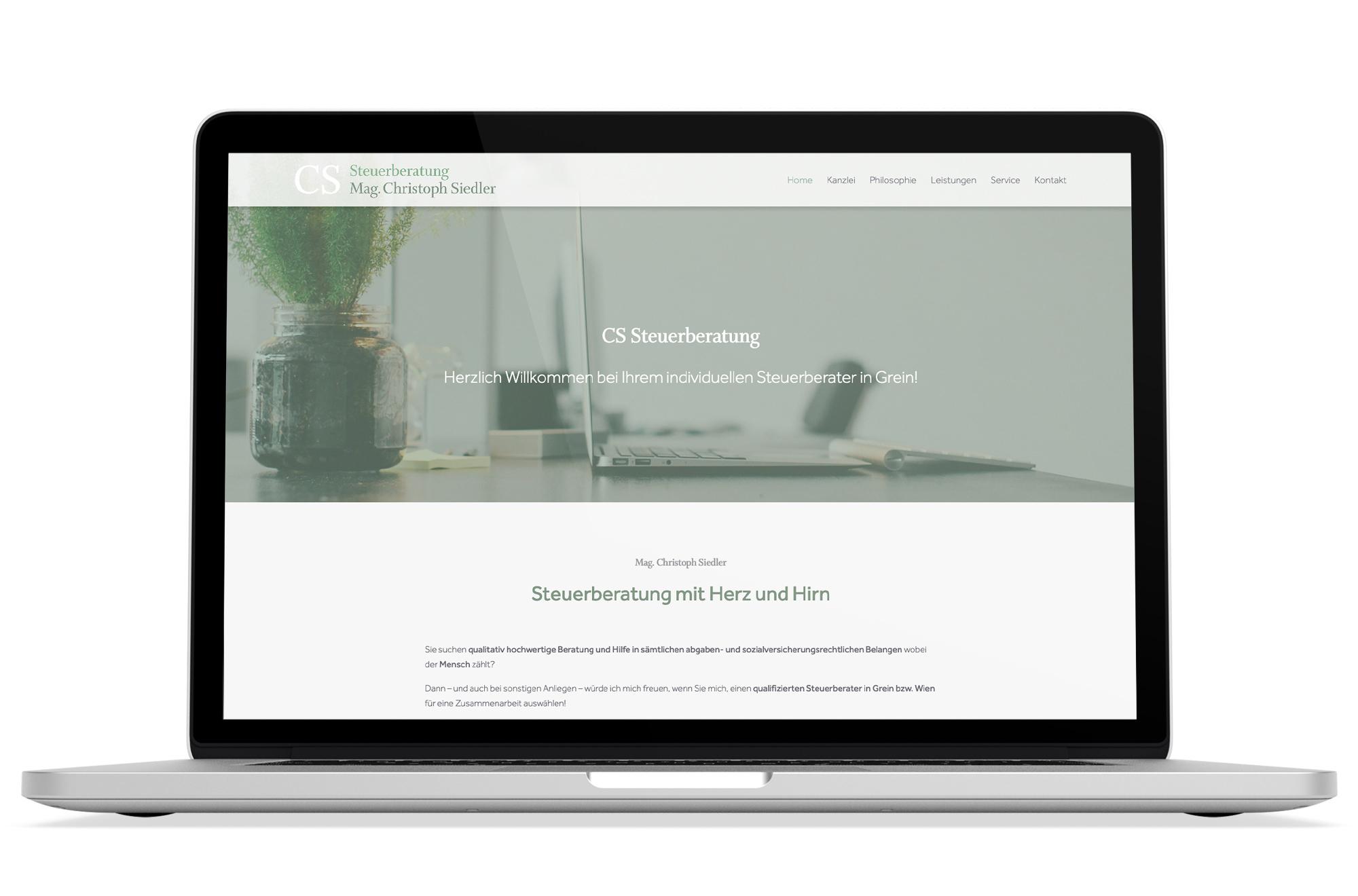 Webdesign Beispiel: Responsive Webdesign, WordPress für Steuerberater in Grein