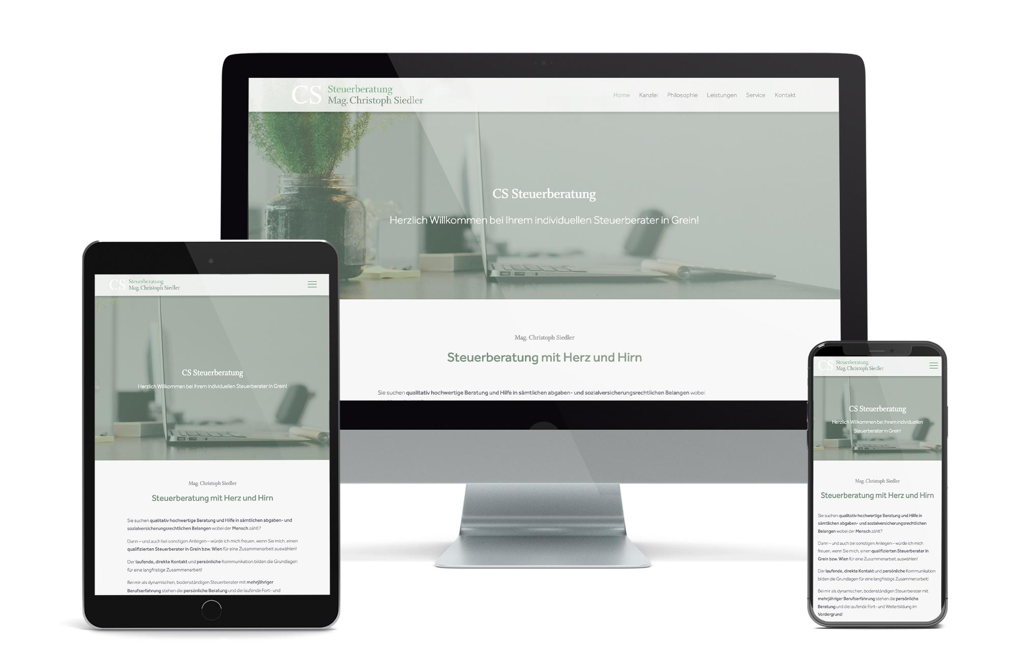Webdesign Beispiel: Neue Website für Steuerberater in Grein