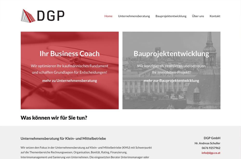 Webdesign Beispiel: Responsive Webdesign, WordPress für Unternehmensberatung