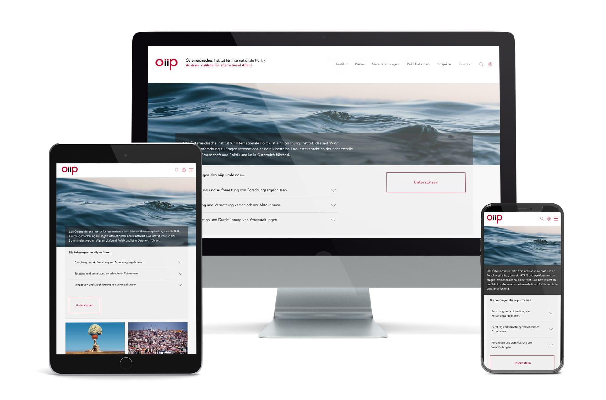 Webdesign Beispiel: Neue Website für Institut / Verein