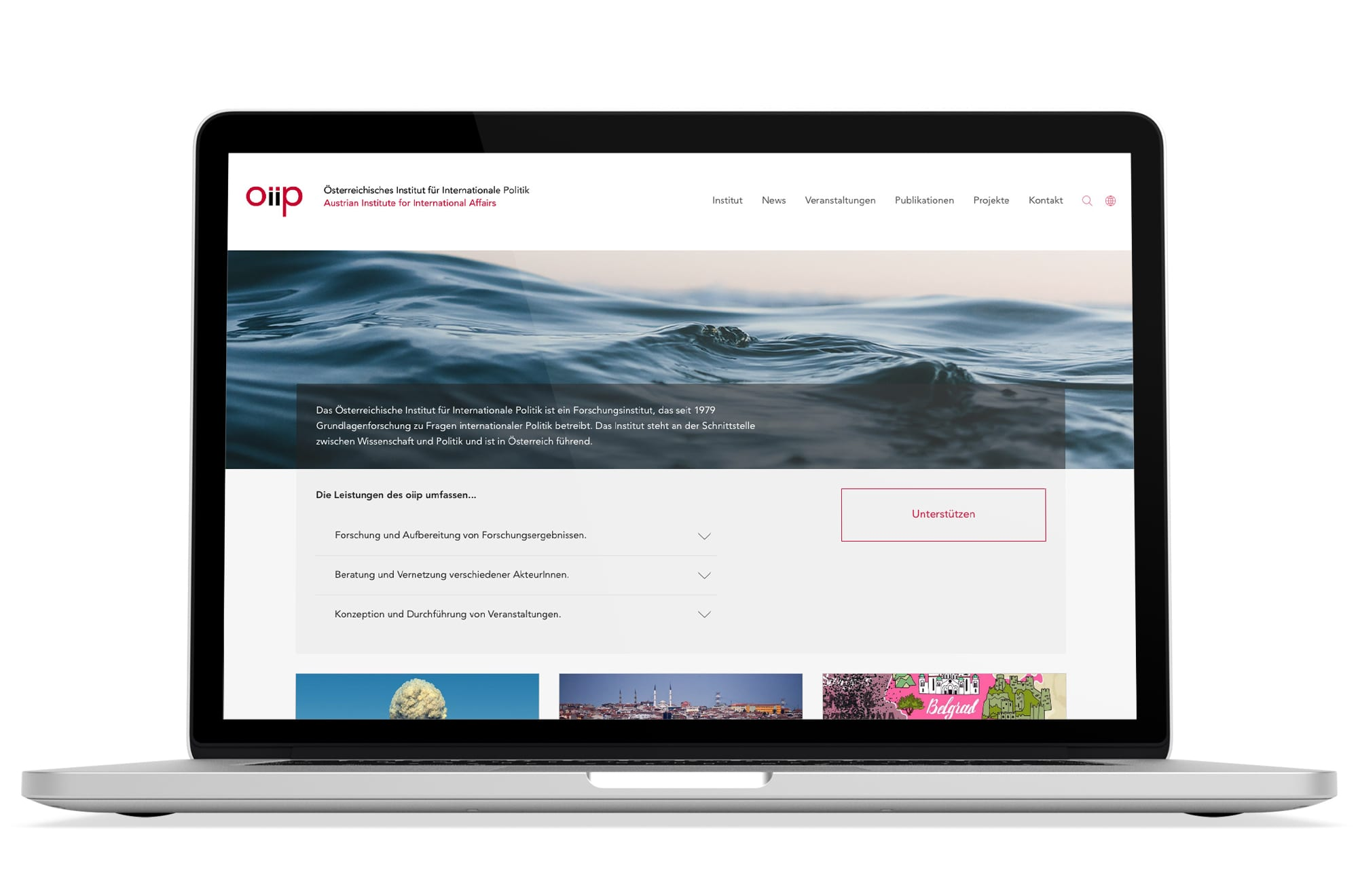 Webdesign Beispiel: Logodesign, Responsive Webdesign, WordPress für Institut / Verein