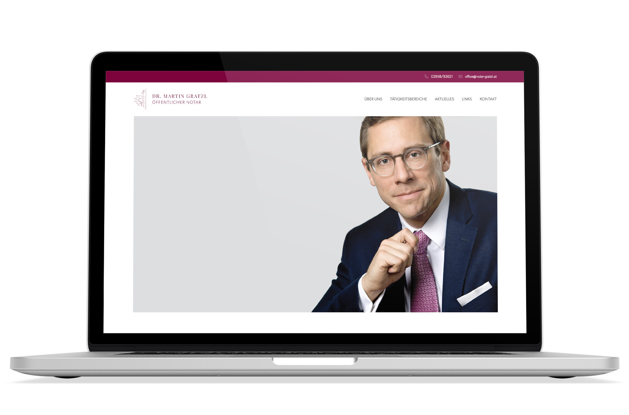 Responsive Webdesign Beispiel: Neue mobile Webseite für Notar / Notariatskanzlei