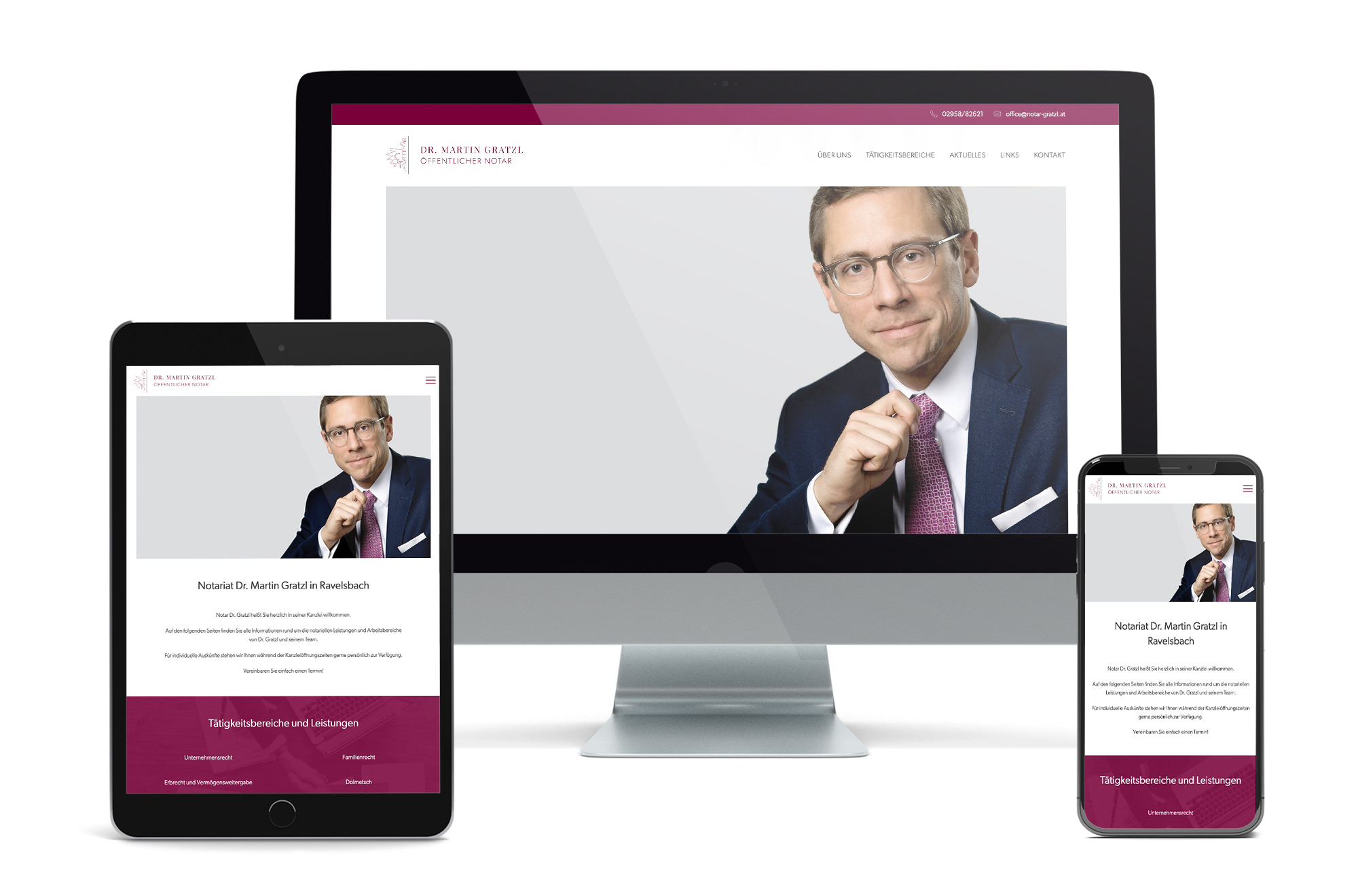 Webdesign Beispiel: Neue Website für Notar / Notariatskanzlei