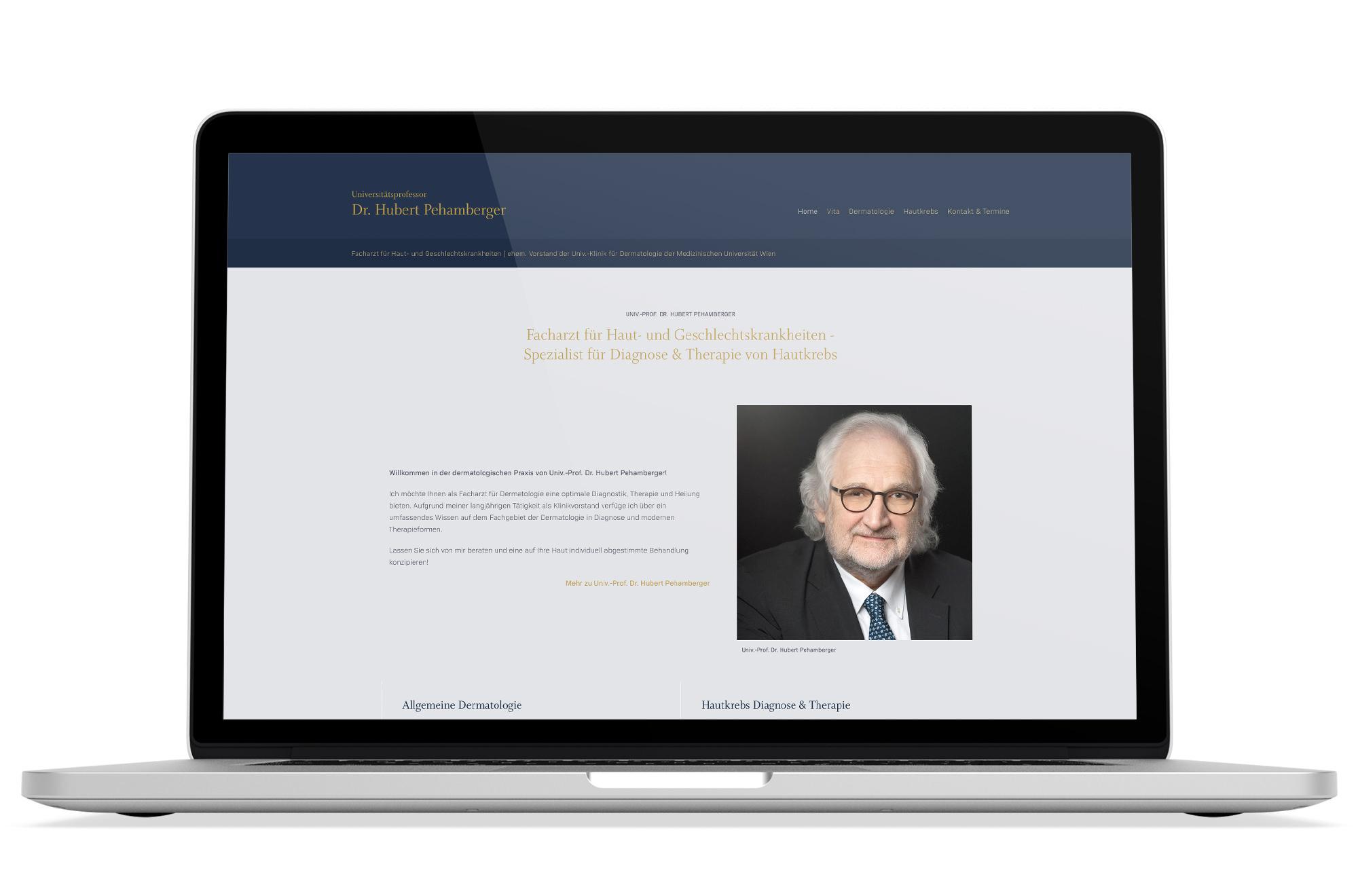 Webdesign Beispiel: Responsive Webdesign, Webdesign für Hautarzt in 1180 Wien