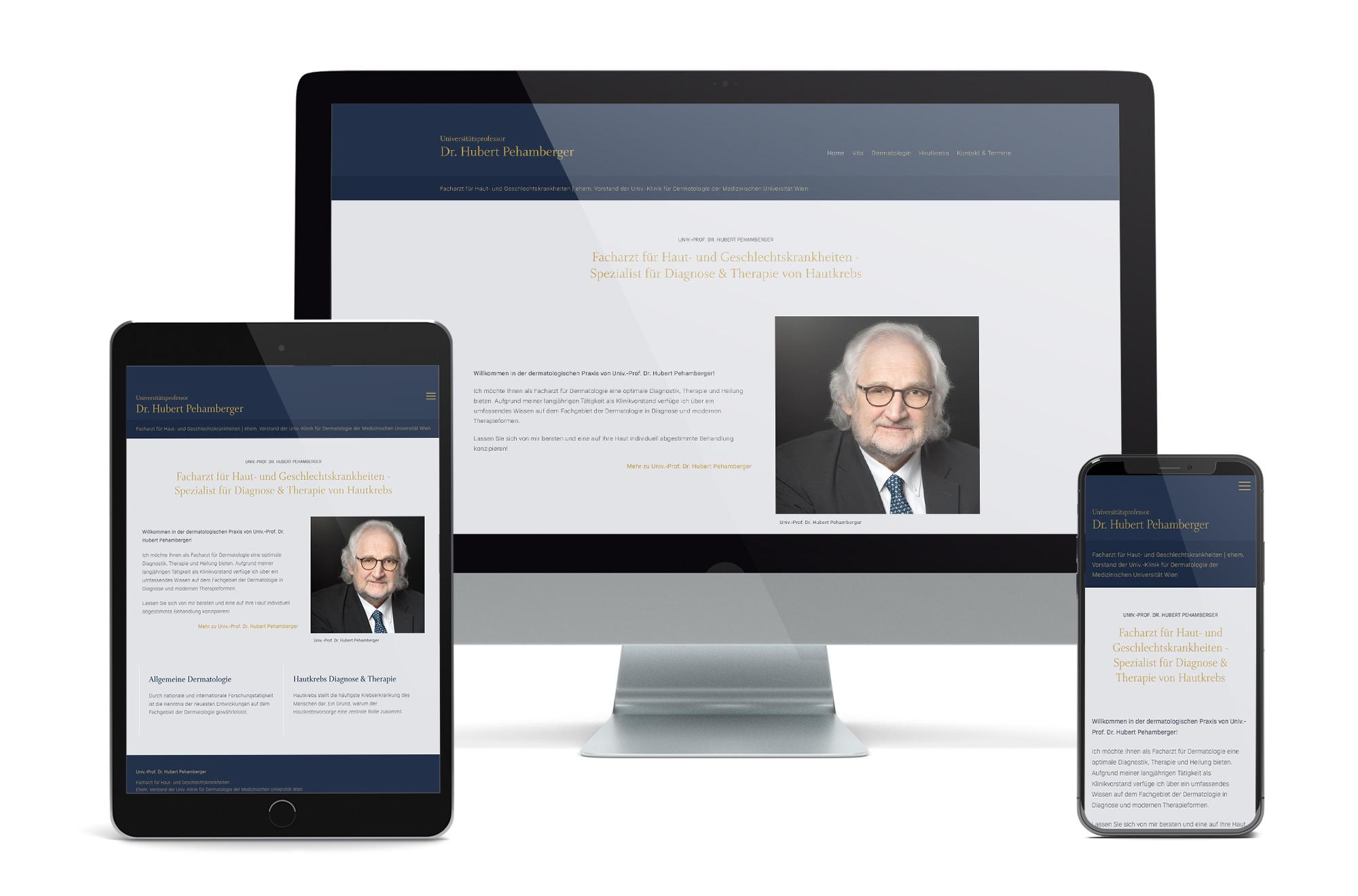 Webdesign Beispiel: Neue Website für Hautarzt in 1180 Wien