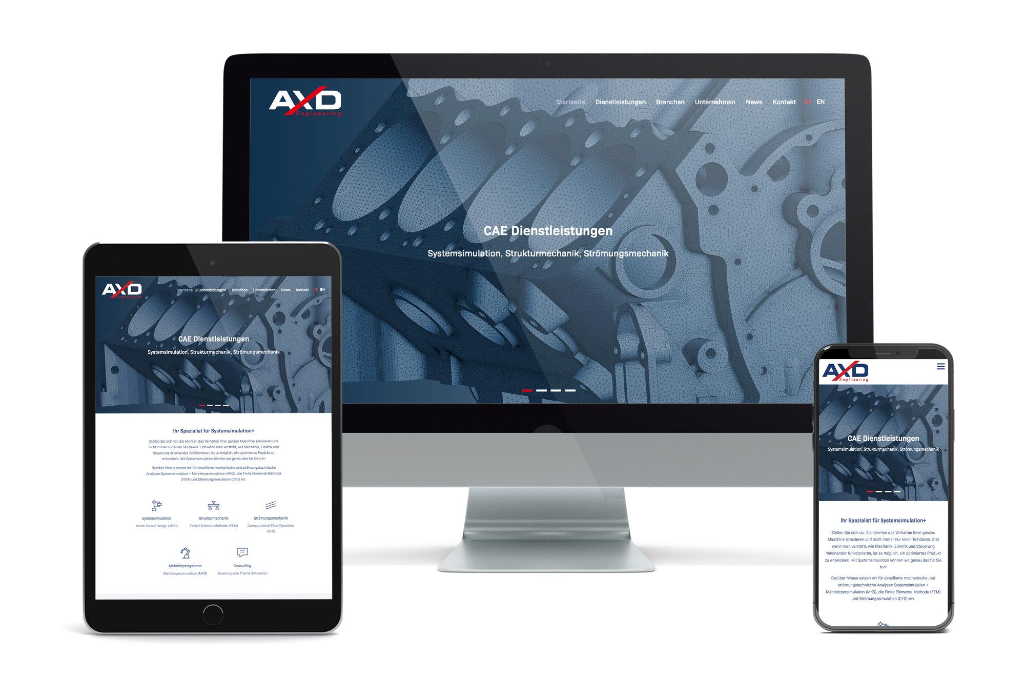 Webdesign Beispiel: Neue Website für CAE Dienstleistungen