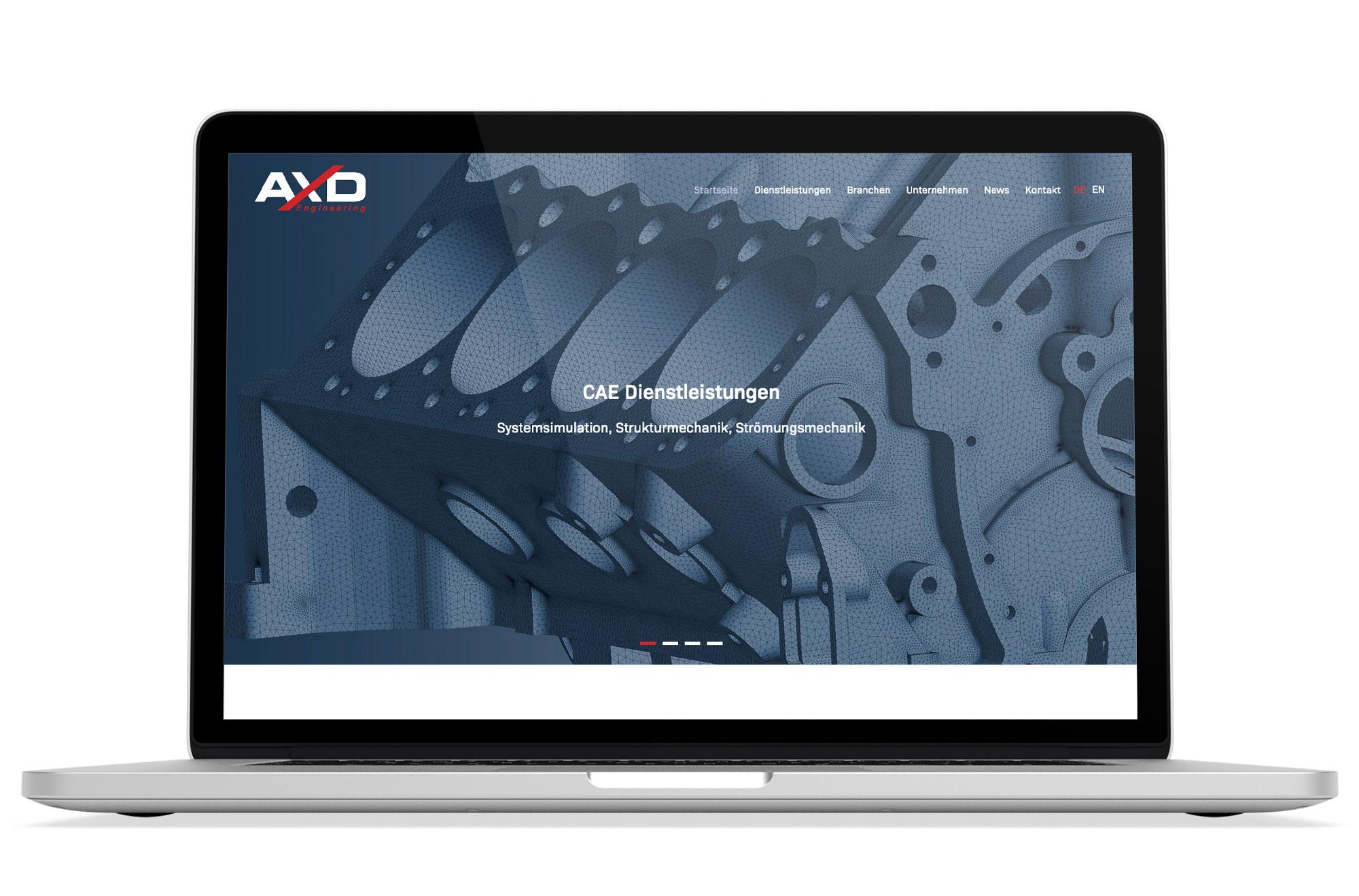 Webdesign Beispiel: Responsive Webdesign, WordPress für CAE Dienstleistungen