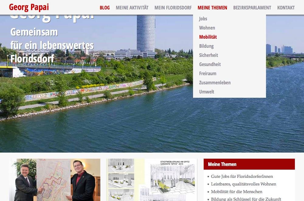Beispiel: Webdesign, Mobiles Webdesign, WordPress