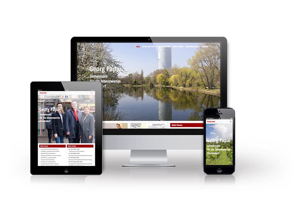 Webdesign Beispiel: Responsive Webdesign, WordPress für Website & Blog