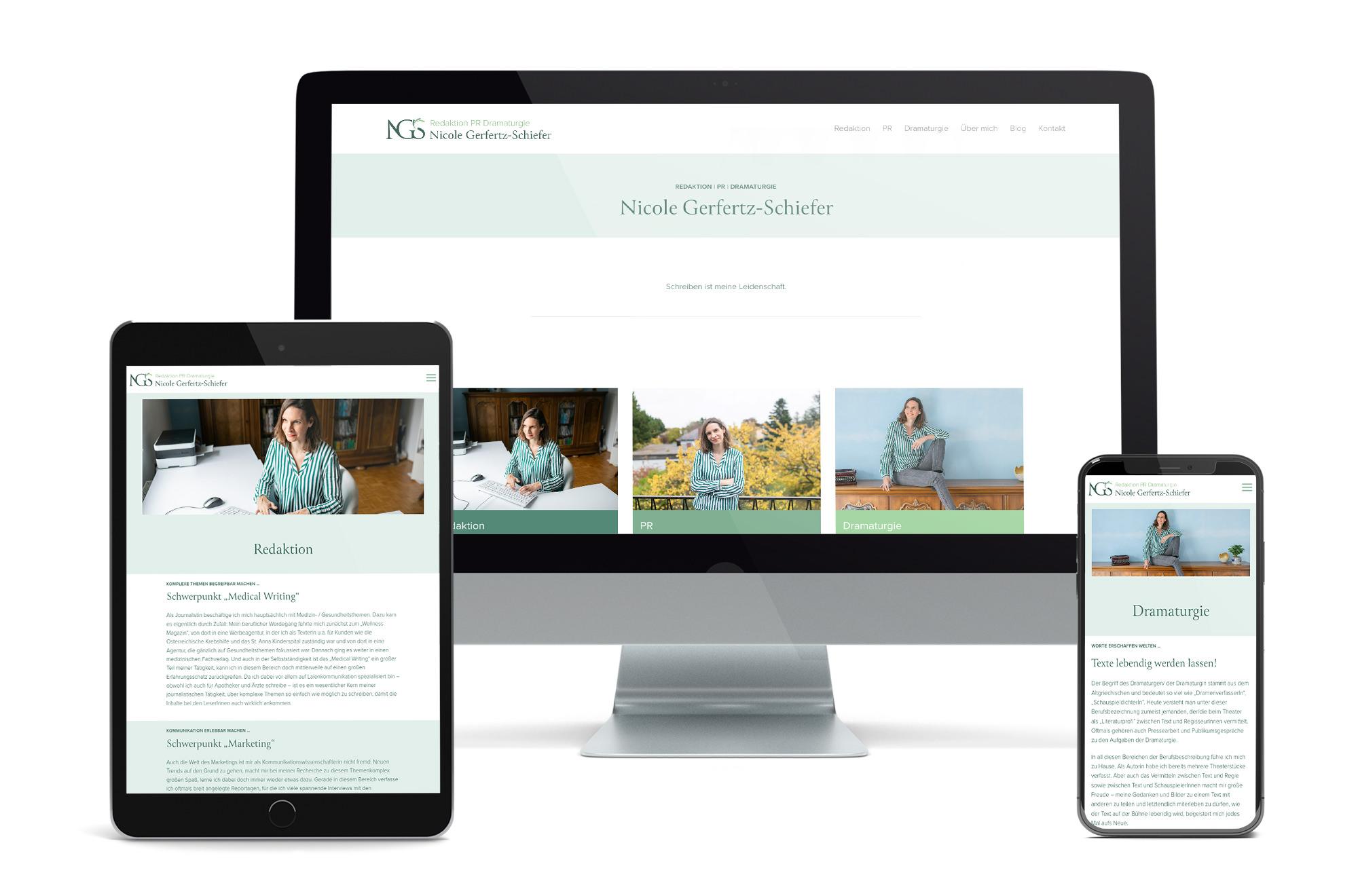 Webdesign Beispiel: Neue Website für Redaktion | PR | Dramaturgie