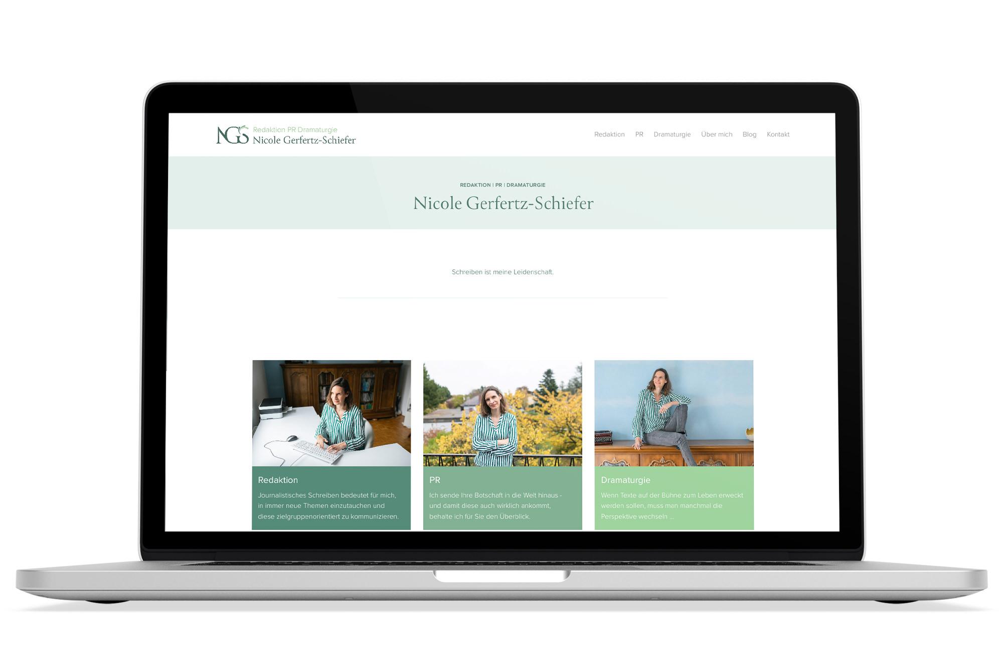 Webdesign Beispiel: Logodesign, Responsive Webdesign für Redaktion | PR | Dramaturgie