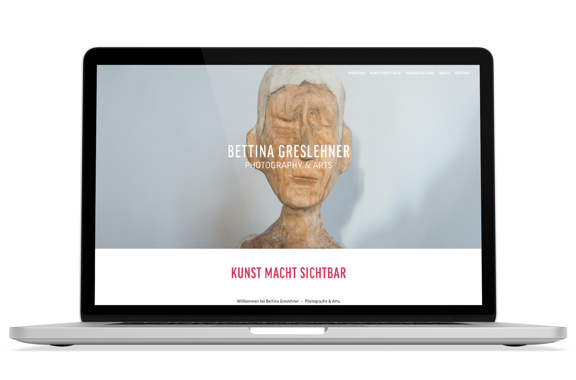 Webdesign Beispiel: Logodesign, Webdesign für Fotografin / Künstlerin