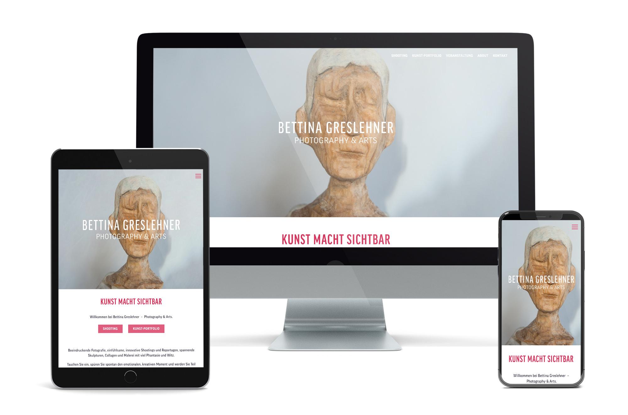 Webdesign Beispiel: Neue Website für Fotografin / Künstlerin
