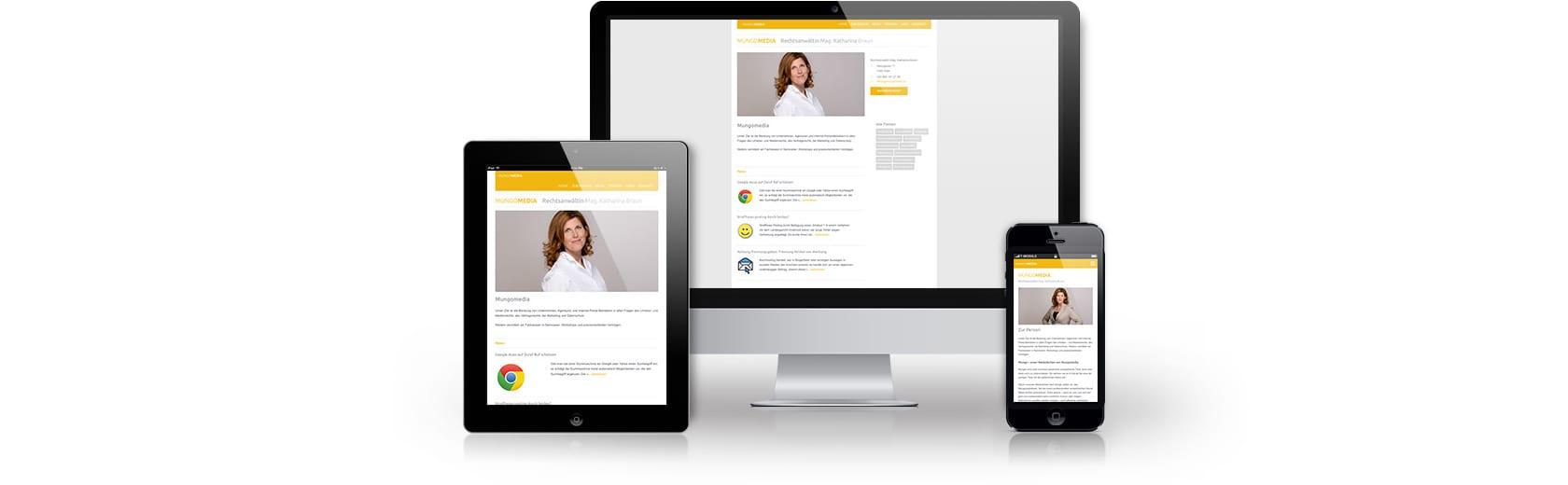 Homepage für Anwalt erstellen lassen in Wien