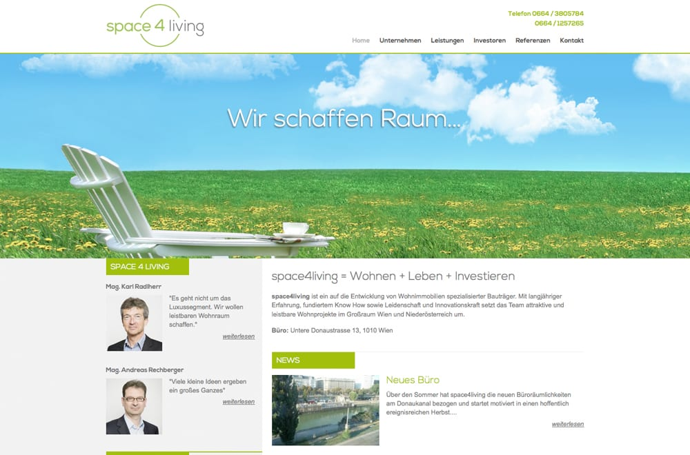 Responsive Webdesign Beispiel: Neue mobile Webseite für Bauträger & Immobilien