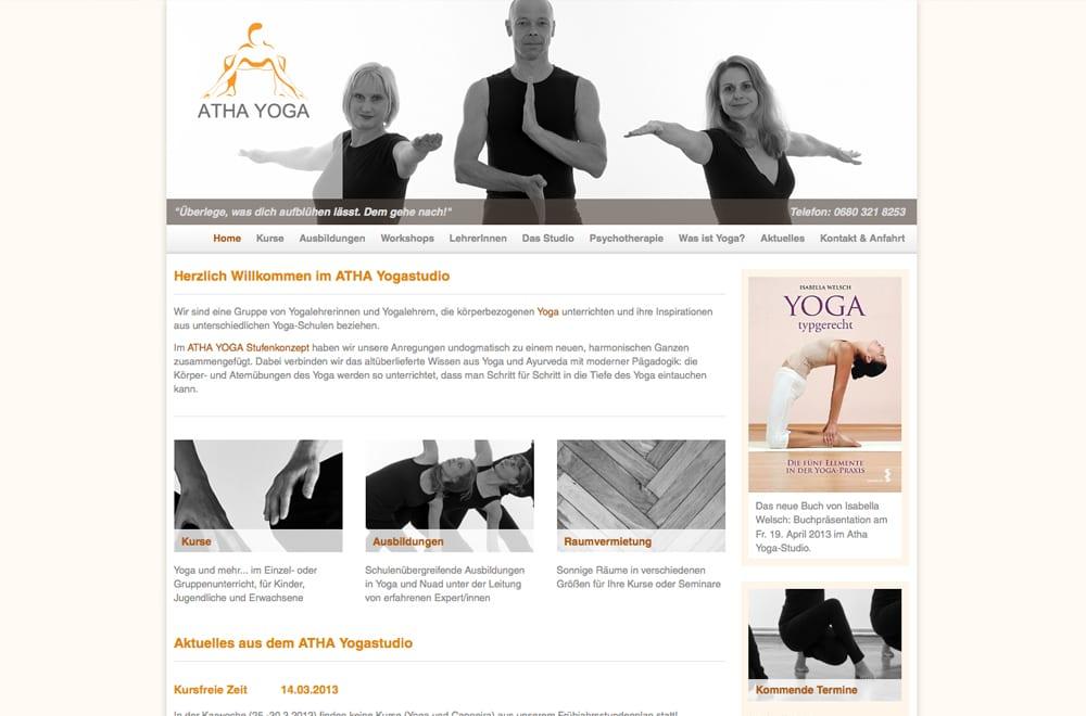 Webdesign Beispiel: Webdesign für Yoga-Studio