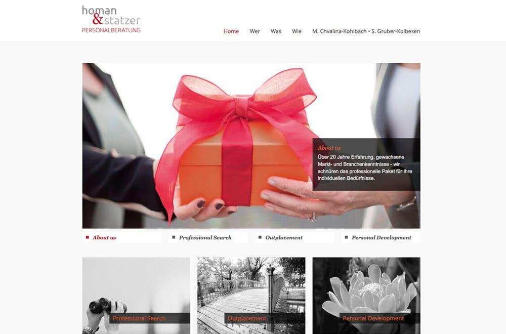 Webdesign Beispiel: Logodesign, Responsive Webdesign für Unternehmensberatung / Personalberatung