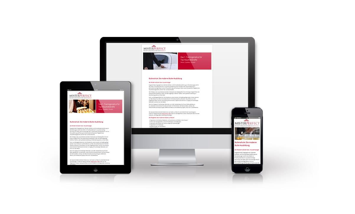 Beispiel: Logodesign, Mobiles Webdesign