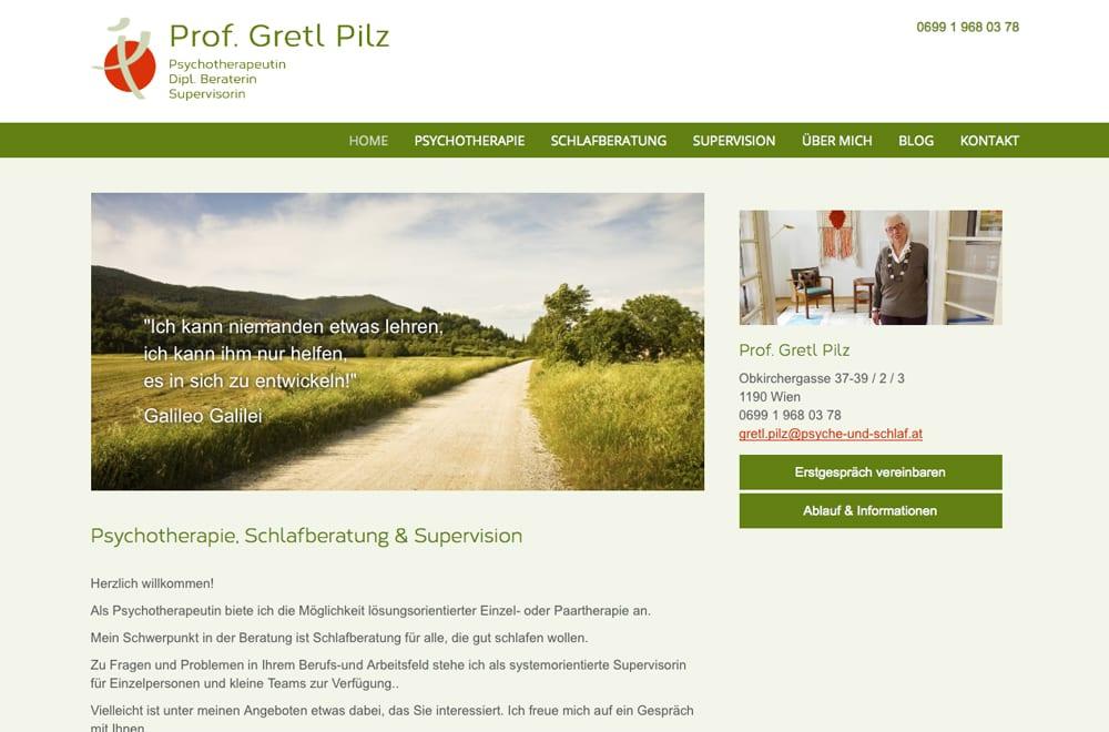Responsive Webdesign Beispiel: Neue mobile Webseite für Psychotherapie & Schlafberatung in Wien