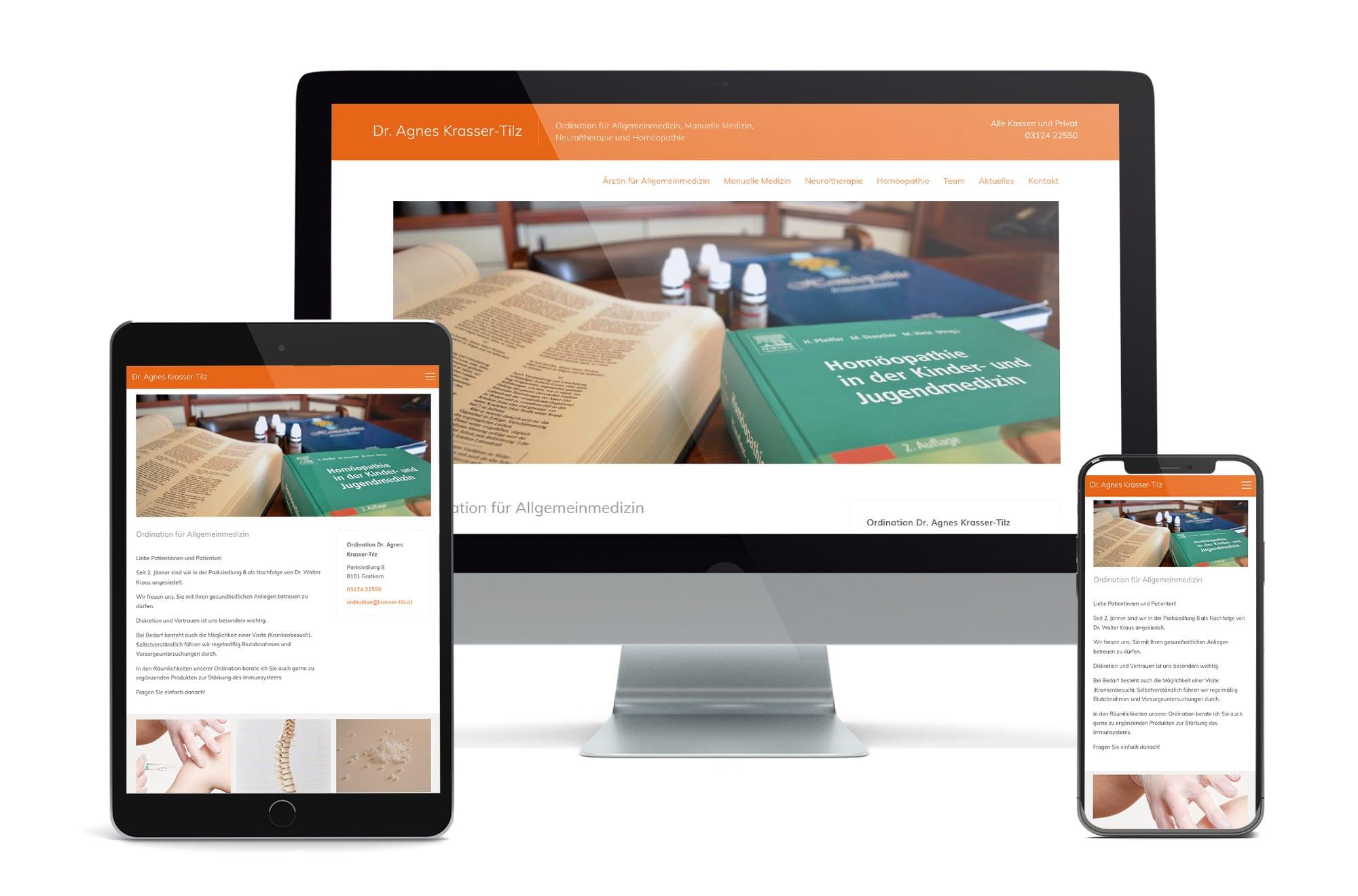 Webdesign Beispiel: Neue Website für Ärztin