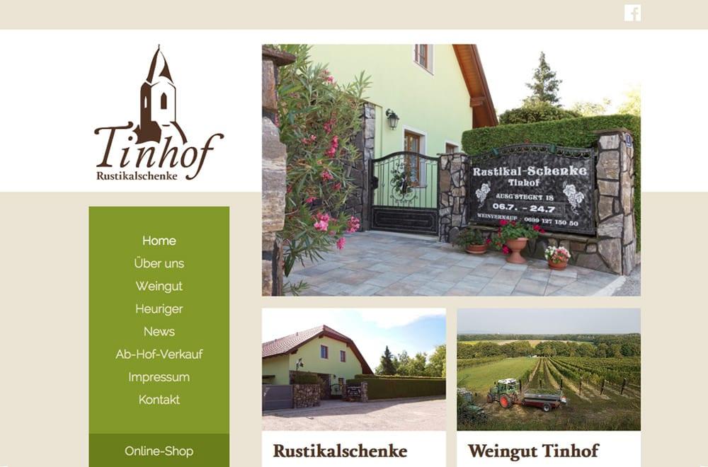 Webdesign Beispiel: Logodesign, Responsive Webdesign, WordPress für Weingut/Heuriger