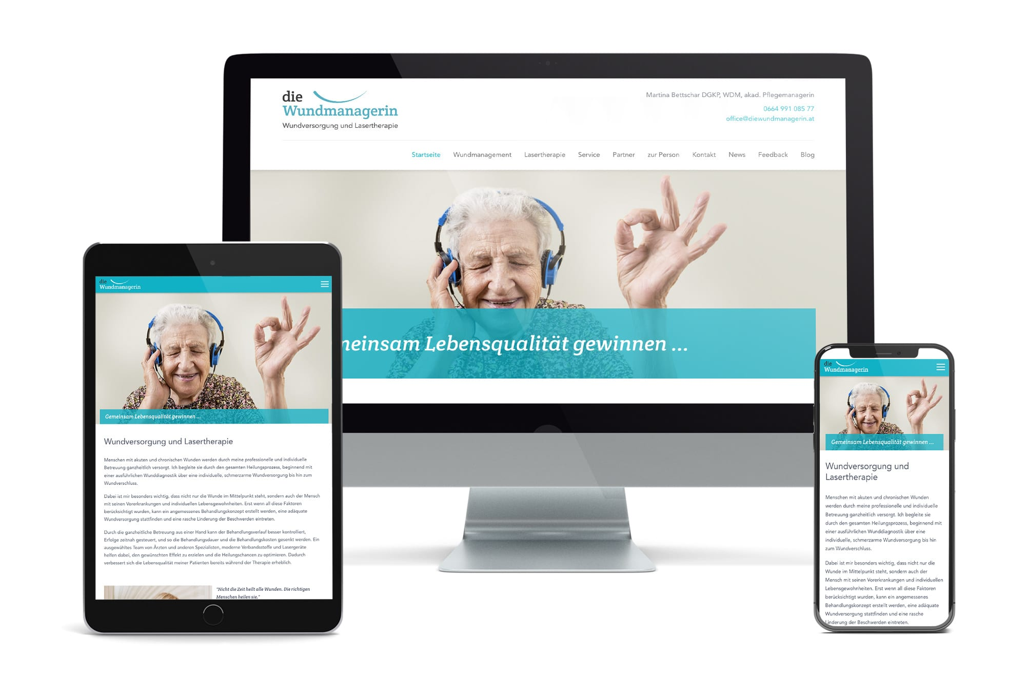 Webdesign Beispiel: Neue Website für Wundmanagement Wien